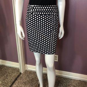 Rafaella Petite Polka Dot Mini Skirt